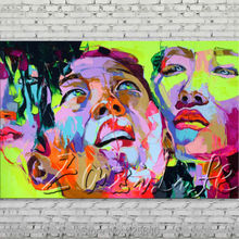 Palette knife portrait Face Oil painting Character figure canvas Hand painted Francoise Nielly wall Art picture 501