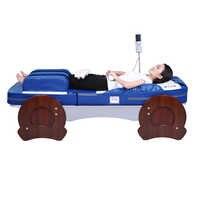 Split-ciało noga poduszka powietrzna ciśnienia elektryczne do wyrabiania ciasta całego ciała wałek do masażu z grzewczy z włókna węglowego szmaragdowe łóżko do masażu