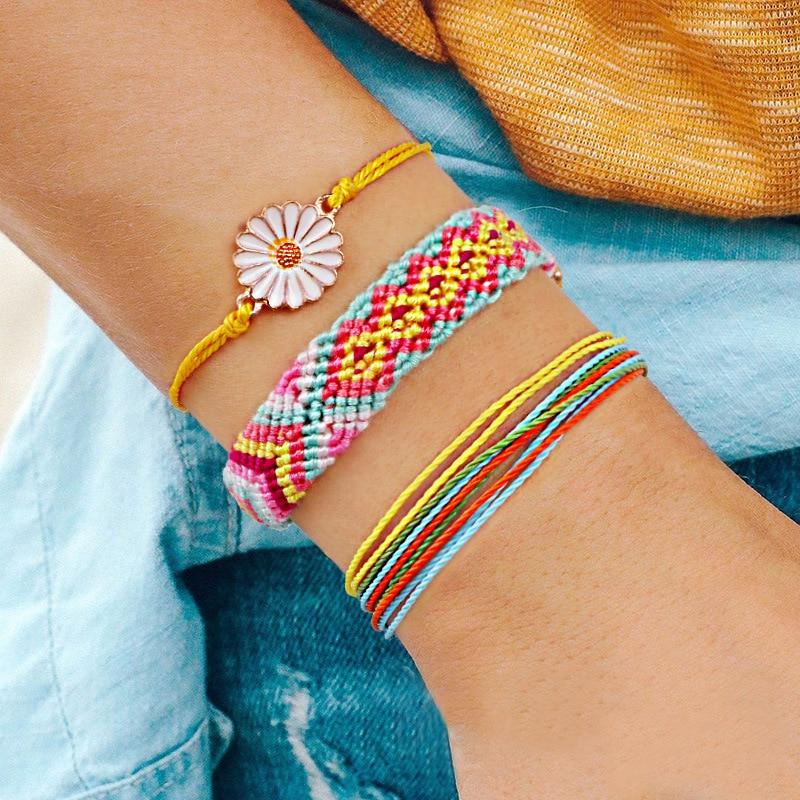 Boho026 Boho Jewelry Woven Friendship Bracelets for Women