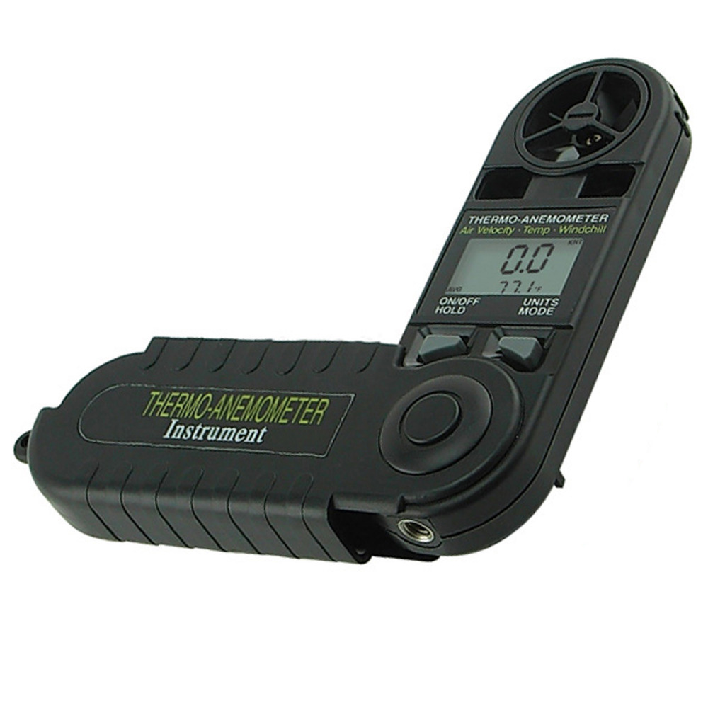 Digital 3 in 1 Pocket Thermo Anemometer Temperature Windchill Air Velocity Beaufort Force Weather Meter