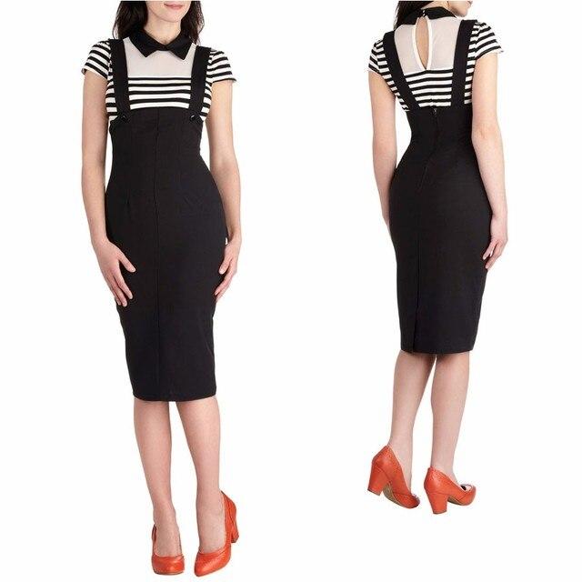 ded77d6aa05 40- women vintage 50s pinup high waist jumper pencil skirt in black plus  size wiggle brace saia skirts jupe