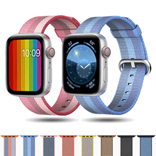 Nato strap for Apple Watch Band 42 mm 38mm apple watch 4 3 2 iwatch band 44mm 40mm correa Woven Nylon Bracelet Watch Accessories цена и фото