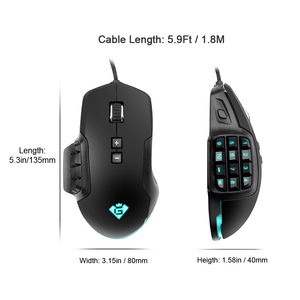 Image 3 - Rocketek USB wired Gaming Mouse 24000 DPI 16 buttons RGB  laser programmable game mice backlight ergonomic for laptop computer