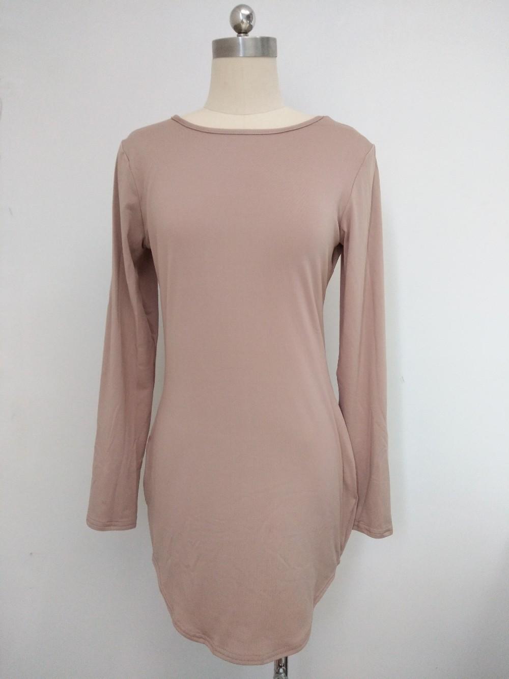 HTB1xkbOMVXXXXaaaXXXq6xXFXXXw - Long Sleeve Mini Bodycon Split Tshirt Bandage Dresses JKP208