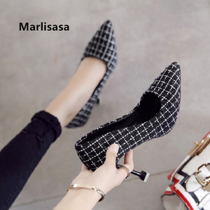 Women Fashion Black Plaid Slip