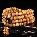 108 * 0.8 см сосновый лес молитва бусины тибетского буддизма Mala будда браслет четки деревянные ювелирных изделий