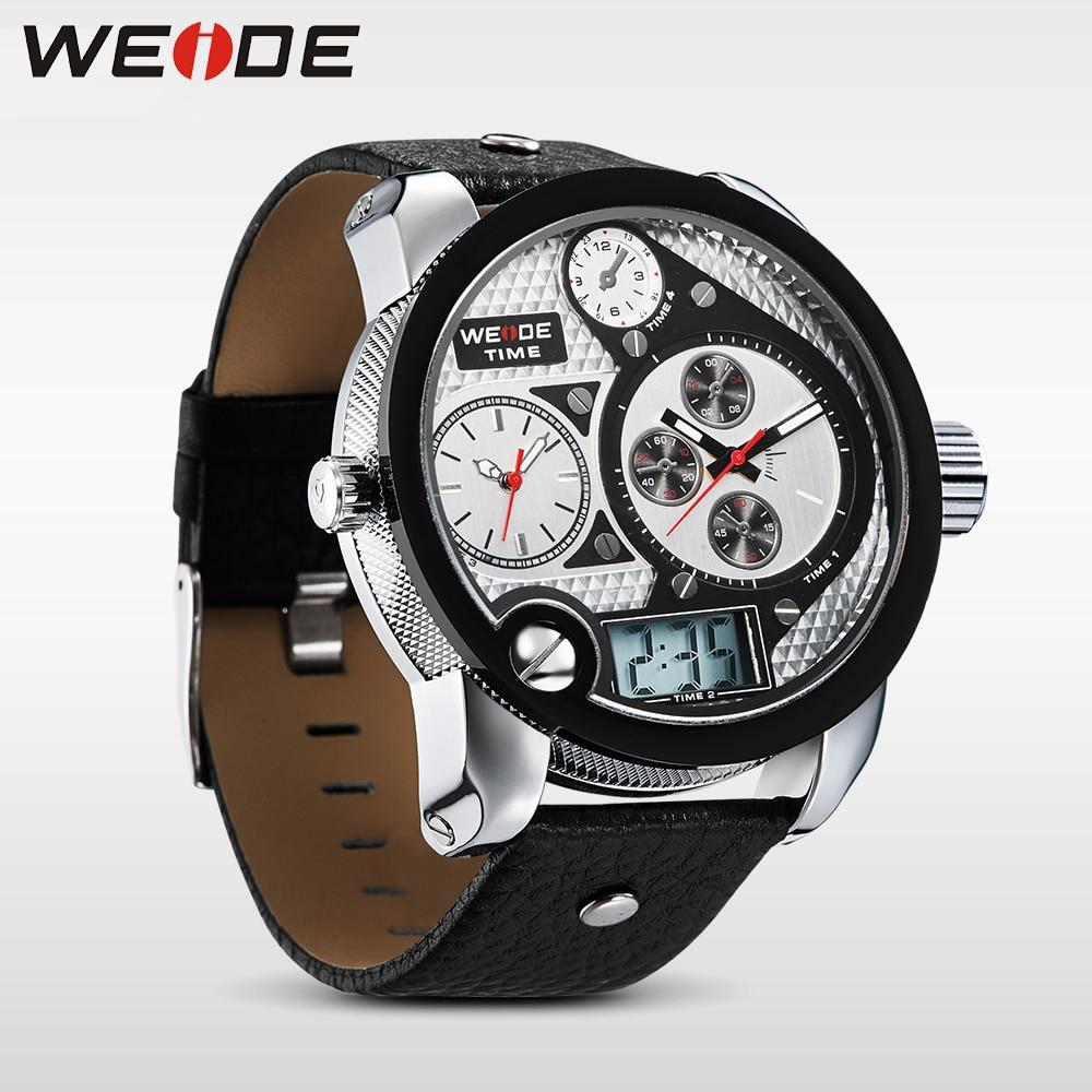 WEIDE Marka Mężczyźni Vintage Wielu Zegarek LCD Quartz 3ATM - Męskie zegarki - Zdjęcie 4
