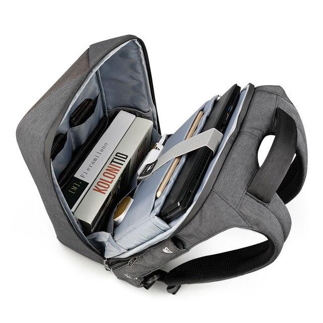 Tigernu Men Fashion 15.6 inch Anti theft Waterproof Business Laptop Backpacks Casual Male School Backpacks GrilsSchoolbag 1
