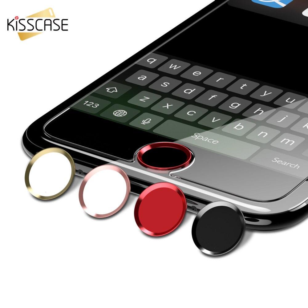 Kisscase для <font><b>iPhone</b></font> 5 5S SE 6 6 s 6 S 7 8 Plus X Кнопка разблокировки дома Стикеры клавиатуры touch ID Защитная Флим для iPad Mini <font><b>4</b></font> 3 Pro
