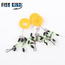 FISH KING 1pack/3packs/5packs Size S/M/L Connector Terminal Black Rubber Oval Fishing Float Bobber Stopper Space Beans Floater