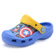 summer boys girls cartoon Captain America Non-slip Jelly Sandals children Antiskid beach shoes children's slippers kids