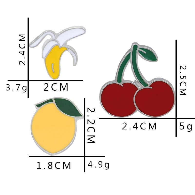 Di alta Qualità di Moda e Creativa Spilla Ciliegia Banana Peach Anguria Frutta Distintivo di Buona Amico Regalo Spilla Commercio All'ingrosso