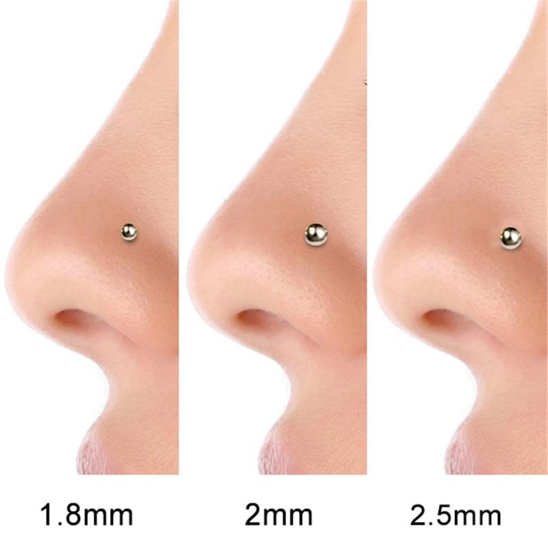 36 Pcs Set 925 Sterling Silver 1 8mm Gold Nose Ring Nariz Piercing