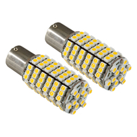 20X 1156 BA15S RV Trailer 12V LED Lights Bulbs 120 SMD Warm White