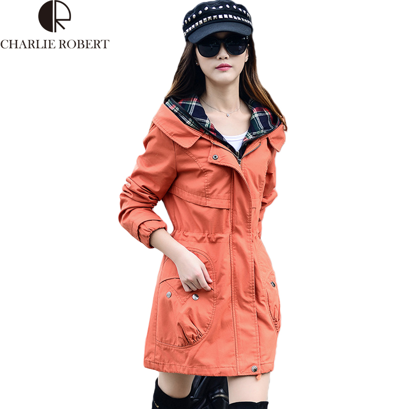 Rüzgarlık Kadın Bahar Sonbahar Ceket Büyük Boyutları Giyim Parka kadın Palto Pamuk Hoodies Ceket cortavientos mujer 2016