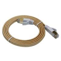 #E501 30cm/50cm/1m/1.5m/2m/3m/5m/10m LAN Network Ethernet Cable Cat7 RJ45 Shielded Pure copper 3ft 6ft 10ft 15ft 30ft