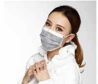 50pcs 4 layer Activated Carbon Anti Fog Dust Disposable Masks Professional Pm2.5 Flu Haze Face Mask Respirator For Man Women