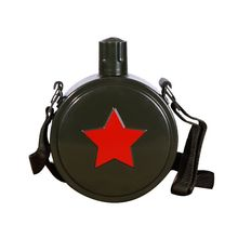 ФОТО 1l 1.5l 2l single wall aluminum camouflage outdoor military sports bottle with mountaineering buckle  camping bicycle my bottle