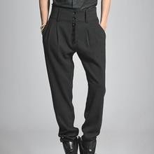 Мужские брюки больших размеров 27-44, мужские брюки, повседневные штаны-шаровары с пуговицами и высокой талией, красивые джинсы