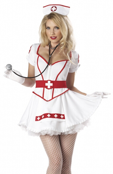 free shipping new arrival Sexy Tutu Nurse Fancy Dress Ladies Uniform  Womens nurse Costume  halloween costume S M L XL 2XL
