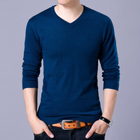New 2017 Autumn WINTER Fashion Men Solid Sweater V Neck Knit Outerwear Pullover Tops Knitted Cashmere