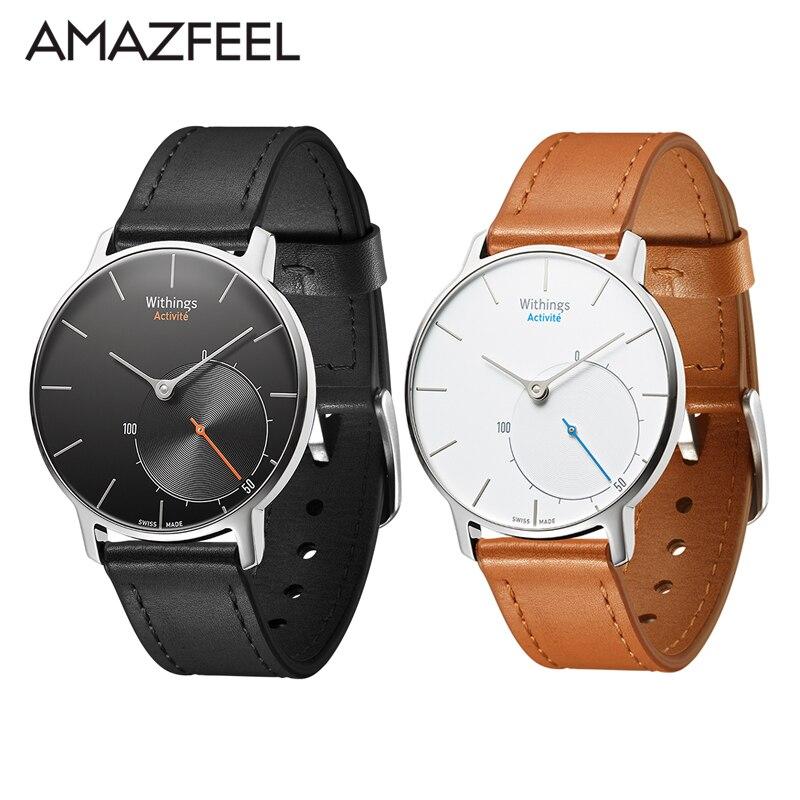 Correa de cuero para Withings Activite POP Smart Watch pulsera para Withings Activite correa de acero correa de cuero genuino 18mm