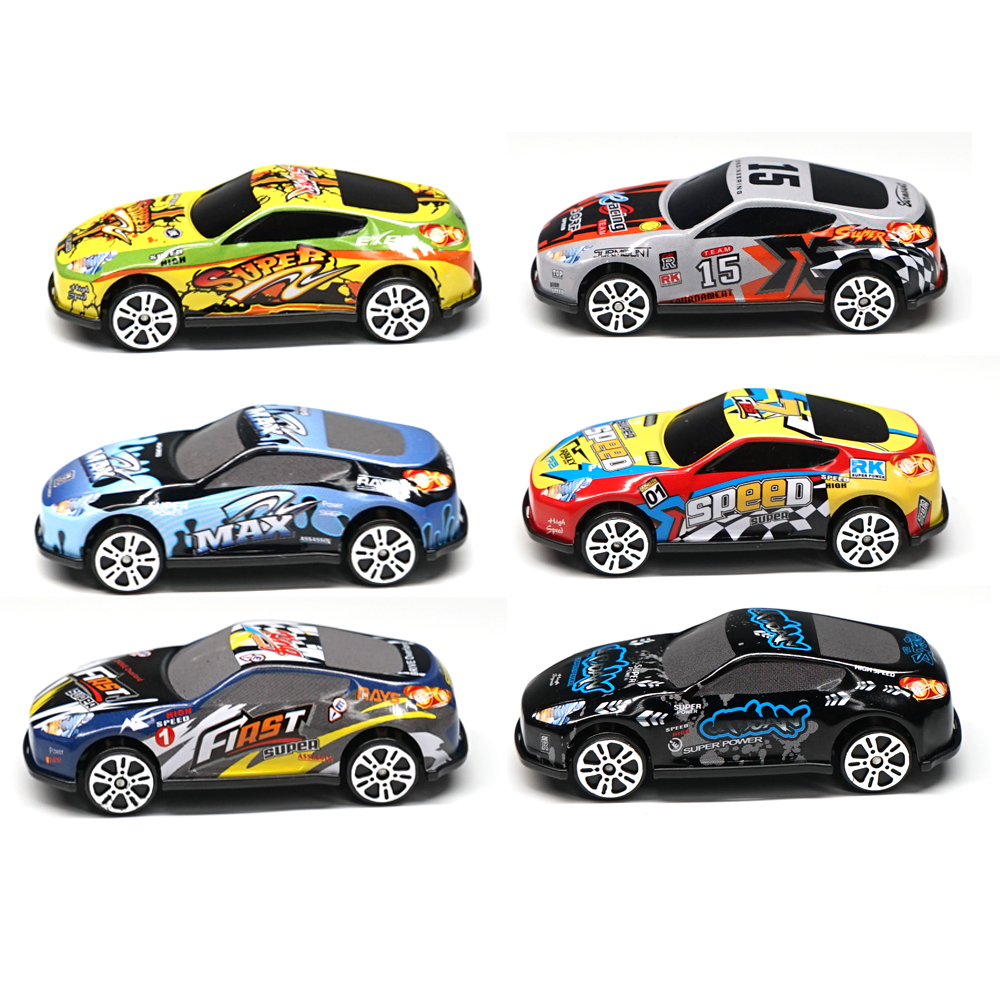 6PCS Racing Plastbilar PARKERING LOT Leksakshjul Mini Car Model - Bilar och fordon