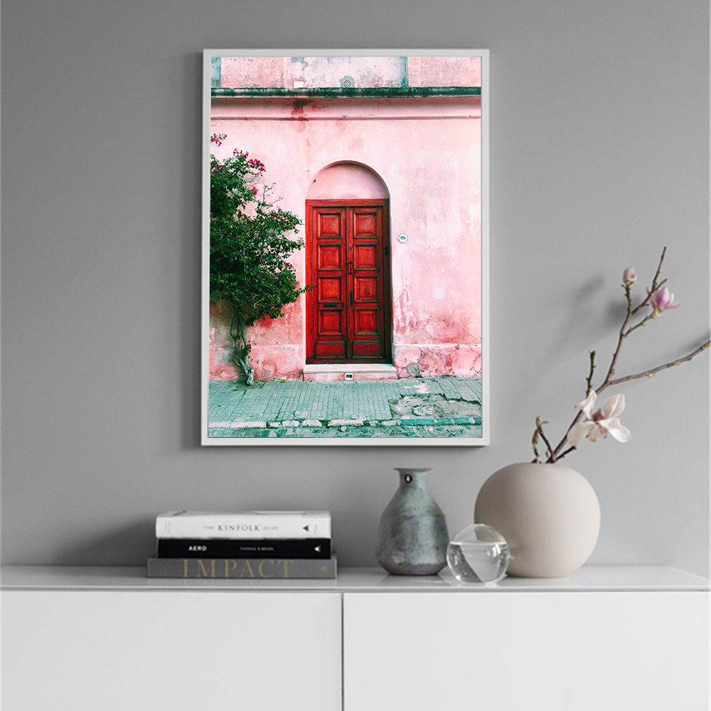 cuadro decoracion salon Structure Door Posters and Prints Highway Canvas Portray Wall Artwork Nordic Model Photos Decor for dwelling Portray & Calligraphy, Low cost Portray & Calligraphy, cuadro decoracion...