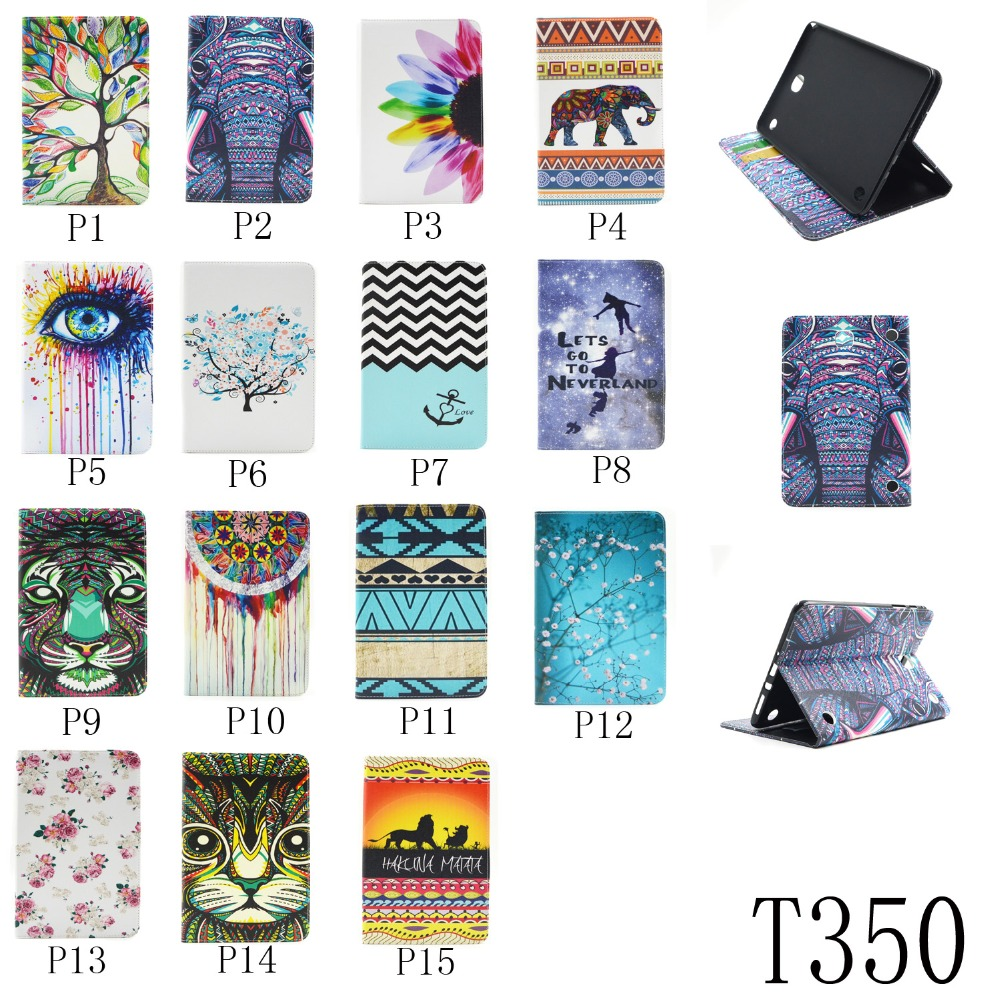 Cartoon Leather Stand Case [Card Holder] Flip Folio Wallet Case Cover For Samsung Galaxy Tab A 8.0 SM T350 P350 P355 T355C T355