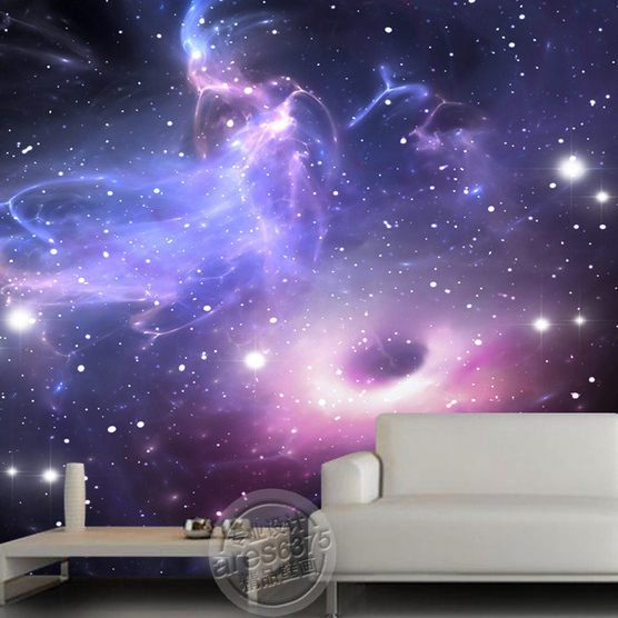 Free Shipping KTV Bar Large Mural Wallpaper Universe Stars