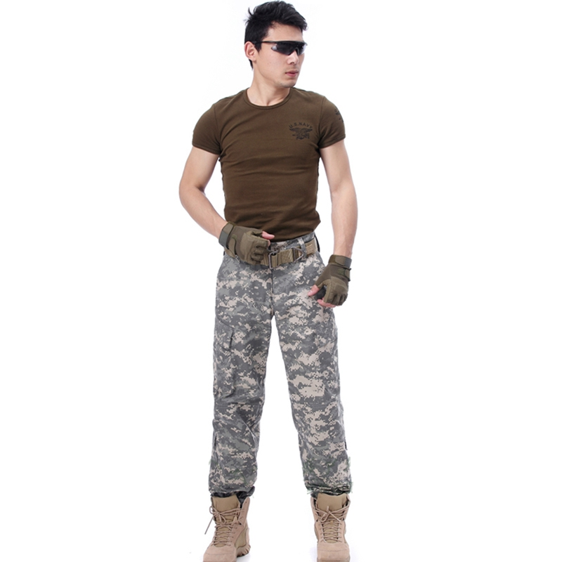 US $25 08 12% OFF BDU Style Military Tactical US ACU pants men outdoor  Hunting wear camouflage pants for fishing hiking hunting Outdoor Gear  wear-in