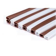 Weatherstrip Entry Door Seals Adhesive Silicone Sealing Strip Gasket 10 x 6mm 8mm 10mm 12mm 15mm 20mm 6m Brown White Translucent
