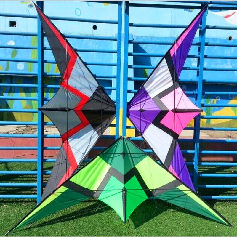 free shipping high quality  2.5m  loudly dual line stunt kites power kite parafoil kite line bicycle idea for present  hcxkites 2 5m huge dual line control soft frameless stunt parafoil flying kite plaid cloth made with 2 line board and 2 x 40m line