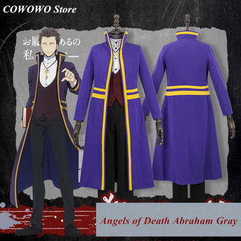 Anime! Angels of Death Abraham Gray Gorgeous Uniform Cosplay Costume Halloween Carnival Outfit 2018 New Hot Game Free Shipping