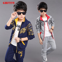 Clothing Set Boys Girls Sport Suit Children Tracksuits Active Costume New Spring Autumn 2017 Baby Sportswear Clothes Suits
