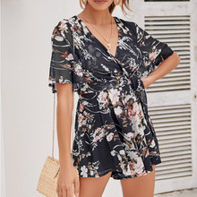a3f51c32457 MUQGEW Rompers womens jumpsuit shorts Womens Floral Printting Cocktail  Party Pencil Midi Rompers Jumpsuit combinaison femme
