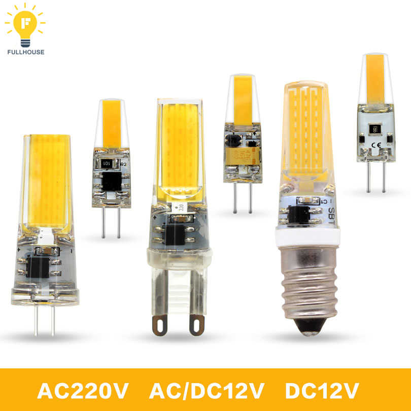 LED G4 G9 Lamp Bulb AC/DC Dimming 12V 220V 6W 9W COB SMD LED Lighting Lights replace Halogen Spotlight Chandelier