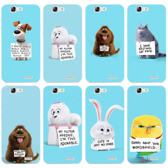 US $1 02 39% OFF|H310 The Secret Life Of Pets Transparent Hard Thin Skin  Case Cover For Huawei P8 P9 P10 Lite Plus 2017 Honor 8 Lite 9 6X-in Fitted