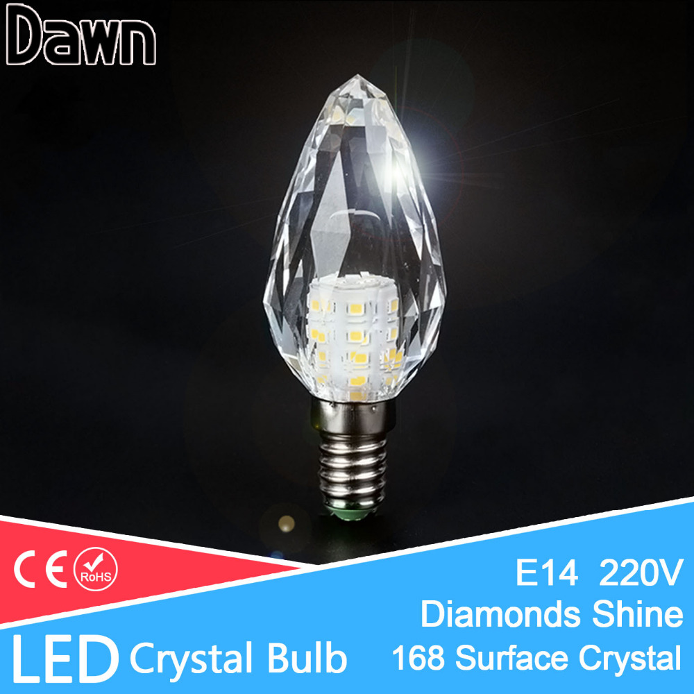 Diamond Shine K5 Crystal LED Candle Bulb E14 LED Light 220V Led Lamp 7W Lampada Bombillas Ampoule Chandelier Cool Warm White enwye e14 led candle energy crystal lamp saving lamp light bulb home lighting decoration led lamp 5w 7w 220v 230v 240v smd2835