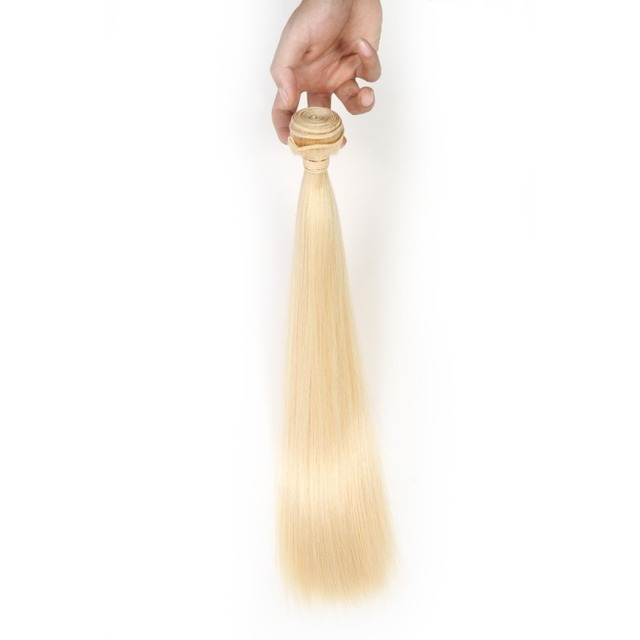 Brazilian Straight Hair Weave Bundles 100% Human Hair Bundle 1pc 613 Blonde Remy Hair Extensions 3 or 4 Bundles Can Buy Smoora