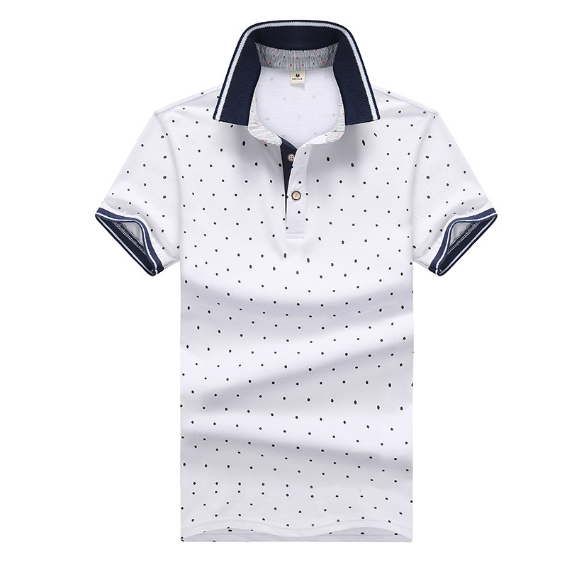 Brand   POLO   Shirt Men 2018 new Printed   POLO   Shirts 100% Cotton Short Sleeve Camisas   Polo   Casual Stand Collar Male   Polo   Shirt 4XL