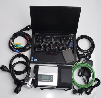 On-line programowania Offline MB Star c5 SD Connect z laptopem T410 oprogramowanie SSD 2019 05 z mb c5 narzędzie diagnostyczne gotowy do pracy tanie i dobre opinie mb sd connect CN (pochodzenie) mb star c5 with laptop newest 10inch 18inch standard plastic metal Analizator silnika best for benz