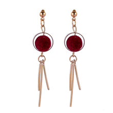 2018 new earrings new fashion personality tassel shape simple earrings spring and summer ball earrings(China)