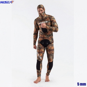 Image 5 - Men Professional 5mm 7mm for Taiwan YAMAMOTO Neoprene Spearfishing Suits Available Hooded Sealed two piece Diving Dry Wetsuits