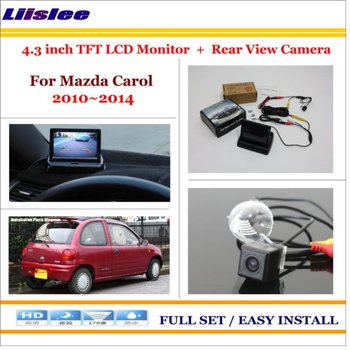 Auto camera For Suzuki Swift 2005 2006 2007 Auto Rear View Camera Back Up&4.3 LCD Monitor Screen Parking Assistance System image