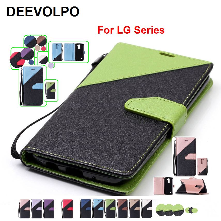 DEEVOLPO Coque Hit Color Leather Book Covers For LG V20 G6 K10 K3 2017 Stylo Stylus 3 2 LS777 LS775 LS675 K7 K420N Cases DP09Z ...