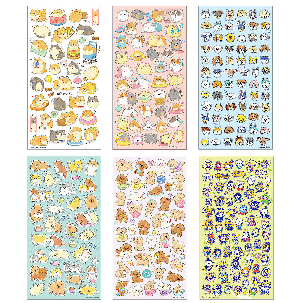 DIY Colorful Large Collection Of Dogs Kawaii Stickers Diary Planner Journal Note Diary Paper Scrapbooking Albums PhotoTag