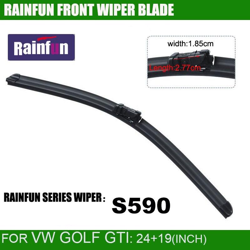 RAINFUN специальный автомобиль стеклоочистителя для VW GOLF GTI, с высоким качеством натурального каучука, 2 шт. в партии