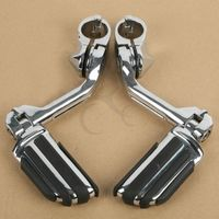 Long Highway Footrest Foot Pegs For Harley Electra Road King Street Glide 1 1/4 3.2CM Bars Touring Model Sportster 883 1200 XL