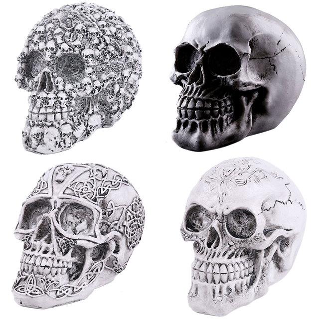 New Hot Sale Homosapiens Skull Statue Figurine Human Skeleton Head Medical  Skeleton Creative Gift Home Decorations